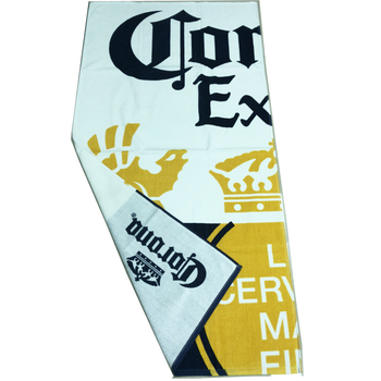 OEKO BSCI Factory Custom Design Double Sides Printed 100% Cotton Beach Towel for Corporate Gift