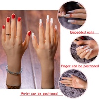 Silicone Hand acrylic nails practice hand Mannequin Displaying Ring Female Hand Art Model Nail Practice Hands