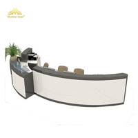 Modern semi circle commercial building reception desk hotel reception counter