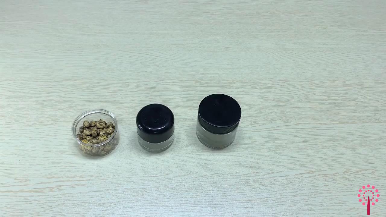 3g 5g Kosmetische Creme Glas Gläser Mit Deckel Verschiedenen Kapazität Kind beständig Push & Drehen kappe Kinder CBD glas Jar