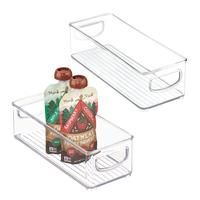 Clear Design Refrigerator and Freezer Storage Organizer Bins for Kitchen