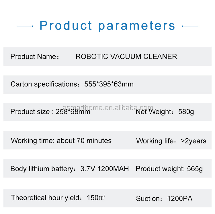 Dropshipping cheapest   Automatically 1800pa Dust Sweeping Robot Vacuum cleaner for Home Using Floor Clean