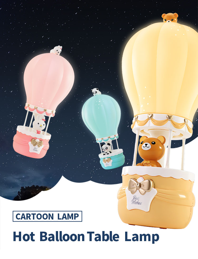 most popular cute hot air balloon table desk lamp kids