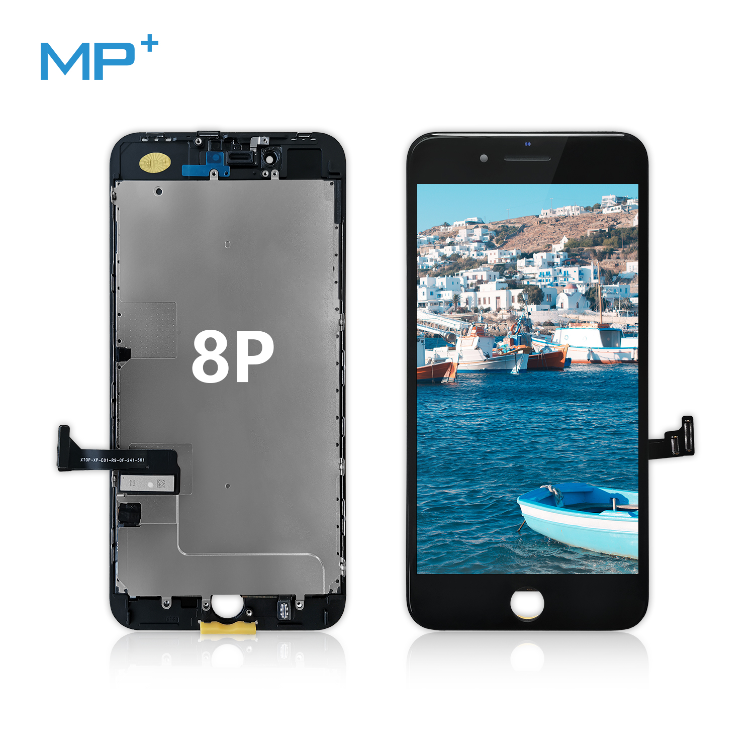 Compatible with iPhone 8 Plus Screen Replacement Black 5.5  Inch mobile LCD Display with 3D Touch Screen Digitizer Frame Display
