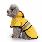 Wholesale Waterproof Reflective Pet Dog Raincoat Slicker Poncho Jacket