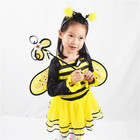 Factory direct supply yellow and black stripes cute bee girl dress