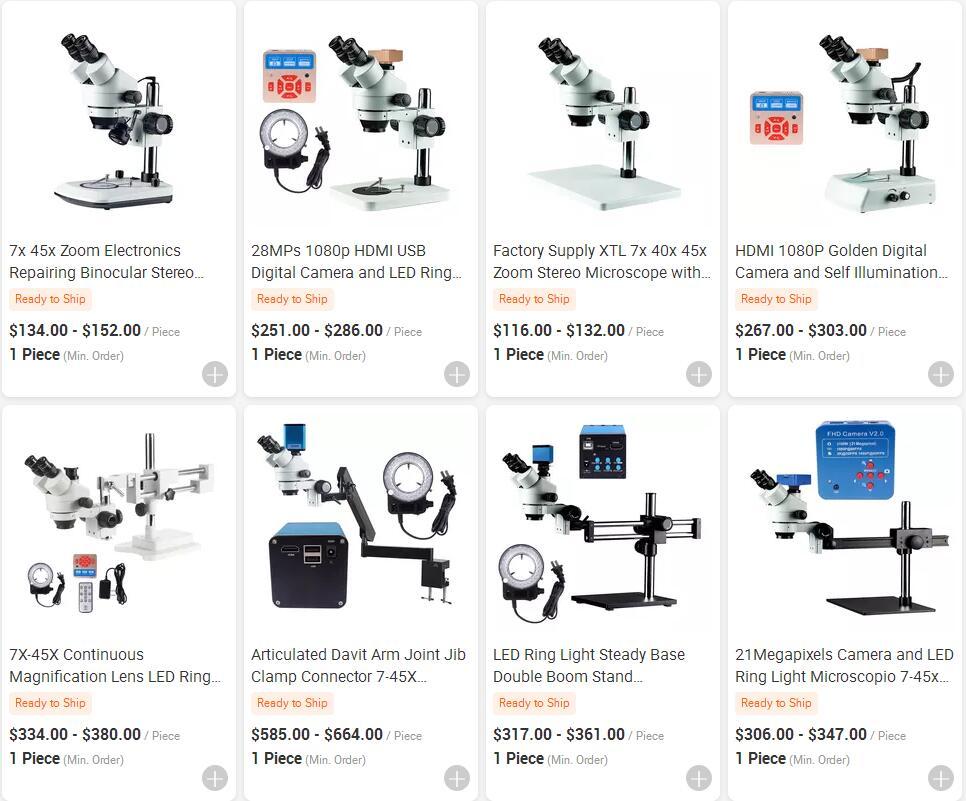 Fuente de la fábrica Simul Focal bala comparación inteligente digital de endoscopia alltion zoom gema estéreo Trinocular microscopio