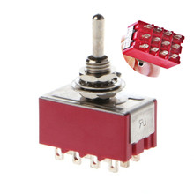 Durable Mini <span class=keywords><strong>MTS</strong></span>-402 <span class=keywords><strong>Kippschalter</strong></span> AC 250V 2A 125V 6A 12 Pins 2 Position AUF AUF Schalter Power conctrol