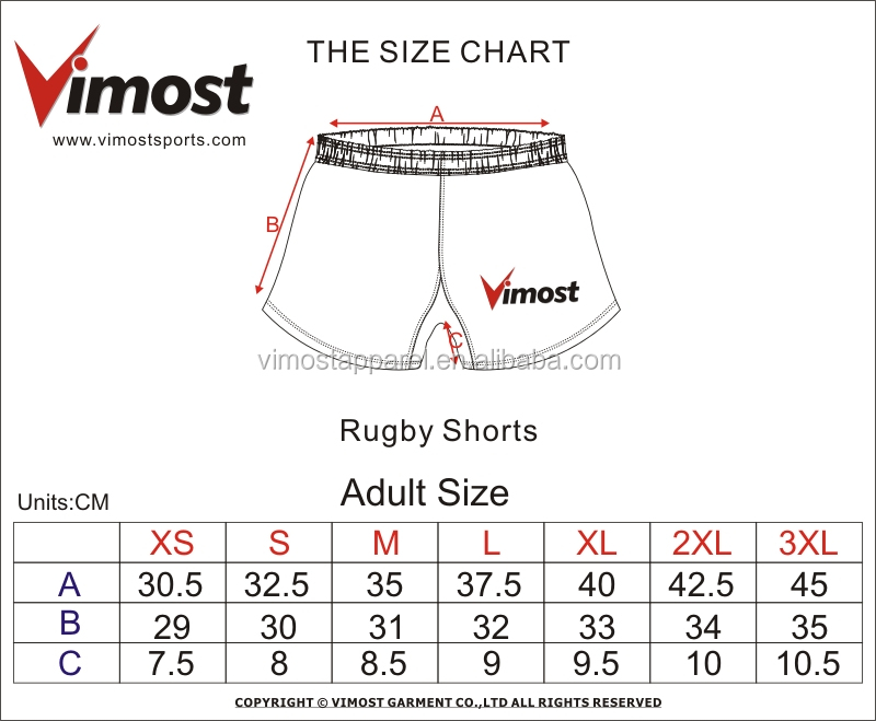 2020 Best custom team logo blank rugby shorts 6