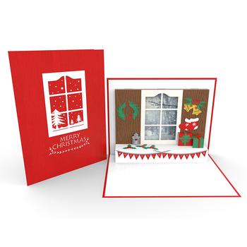 Christmas Window 3d Pop Up Card Creative Ideas Wholesales Handmade Vietnam Custom Design Buy Christmas 3d Pop Up Greeting Card Christmas Window Pop Up Card Christmas Greeting Pop Up Card Product On Alibaba Com