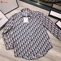 Factory price high quality autumn new design letter printing loose casual korean fashion long sleeves mature women blouse