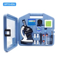 OPTO-EDU A11.1513 1200X Children's Biological Metal Microscope gift set; Kids educational student microscope set