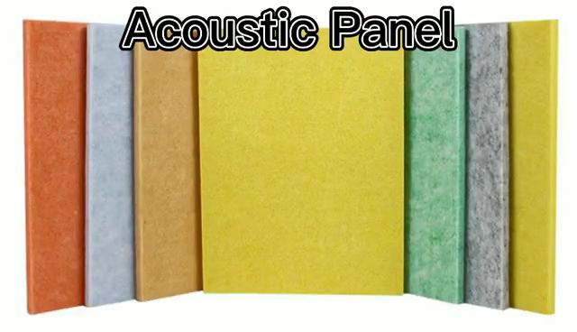 사운드 흡수 패널 폴리에스테르섬유 청각 패널