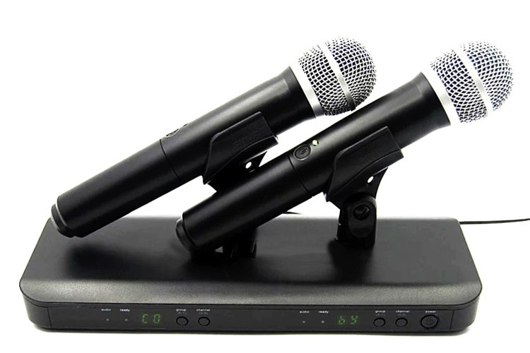 Sinbosen Professional L-88/P-58 Wireless Microphone 780-822 MHz Stage Karaoke UHF Microphone