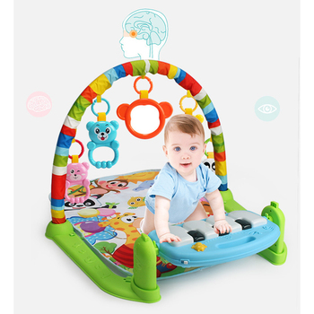 2020 Cheap promotion new soft activity gym play mat toddler learning educational baby toys with music