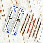 Hot Sale Hexagonal With Black Red Blue Stripping Soft Wood HB/2B Pencil For School