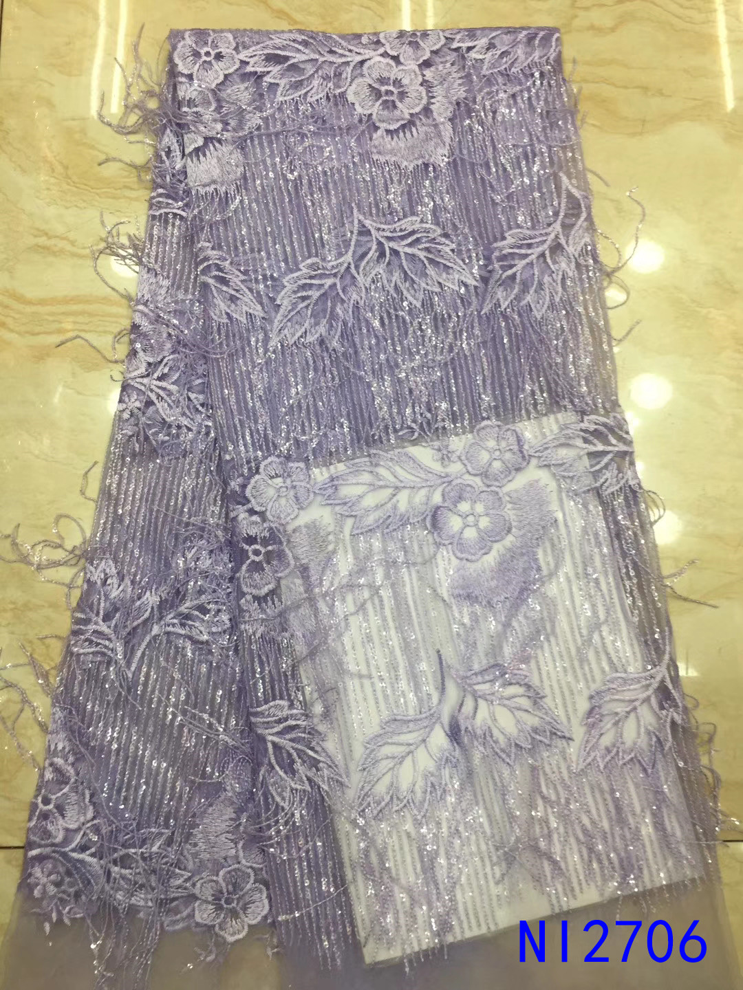 High quality 2019 net asoebi french lace fabric for african dress