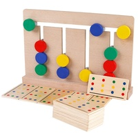 Learning Logic Color Matching Board sensory toys four color montessori early educational wooden kids toys