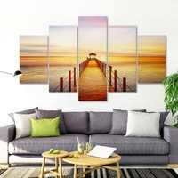 Acrylic wall decor 5 pieces modern home decoration canvas art for home