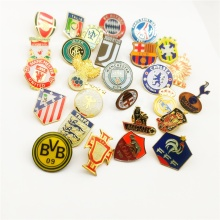Football Club Logo Badge Champions League Nationale Team Custom Metal Enamel Reversspeldjes