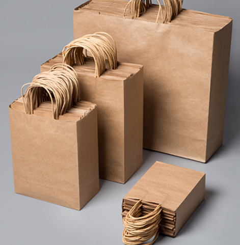 Günstige recycled brown handwerk kraft geschenk papier taschen mit griffen