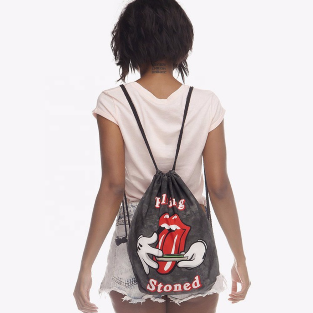 Ginzeal Promotion Custom Drawstring Shoes Polyester Drawstring Bag
