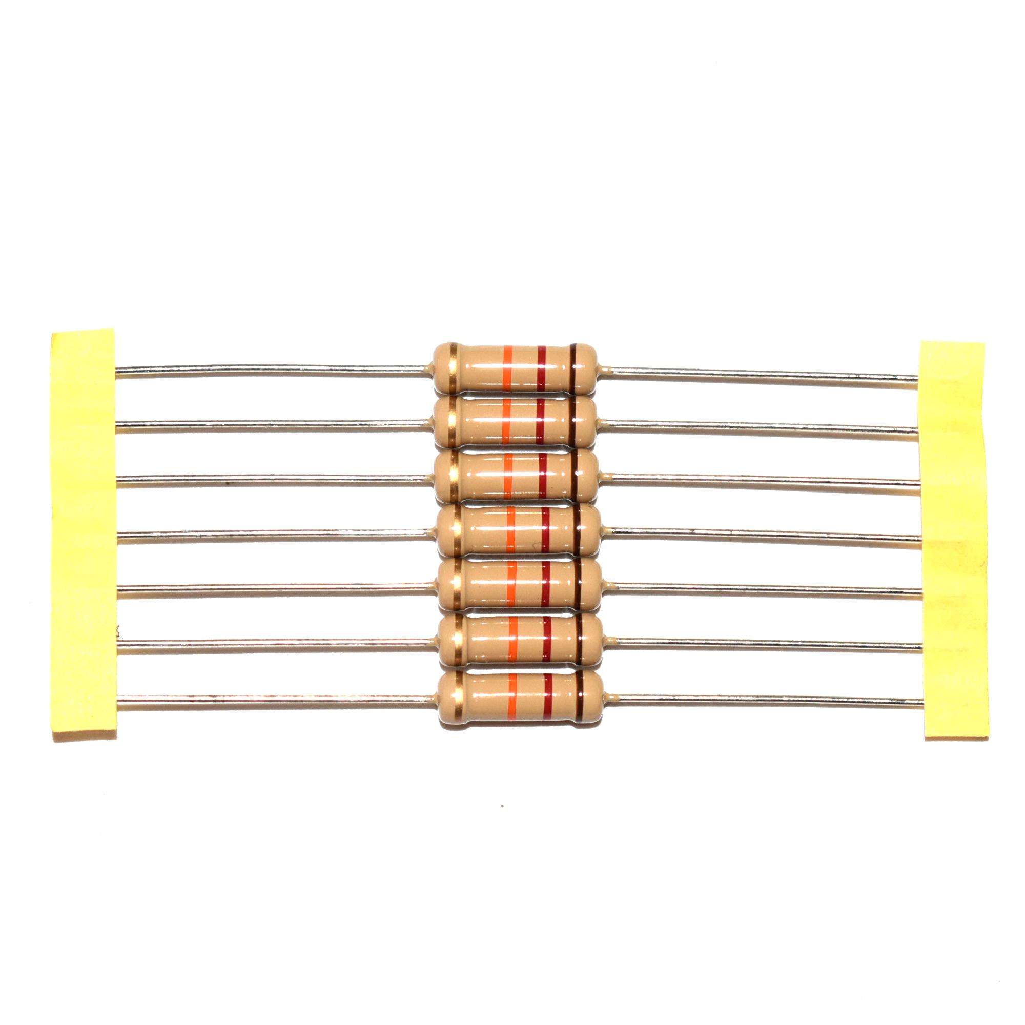 KOA Speer 300K ohm Through Hole Resistor Carbon Film 5/% 1//4W CF1//4CJ BULK Bag of 100