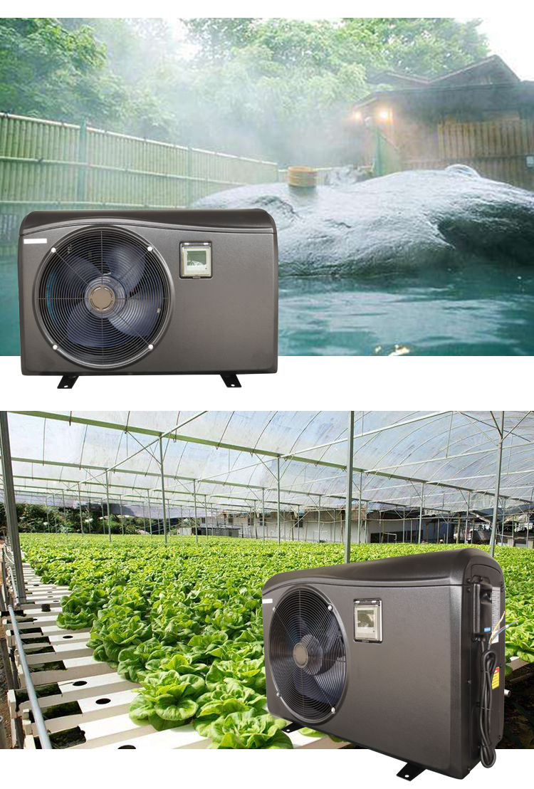 solar swimming pool heat pump water heater for jacuzzi spa pool heating