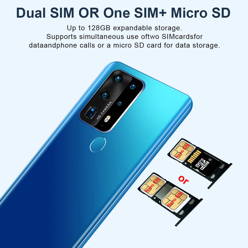 Fingerprint unlock smart phone 6.8 inch 4G used mobile phone smartphones support OEM / ODM for your brand