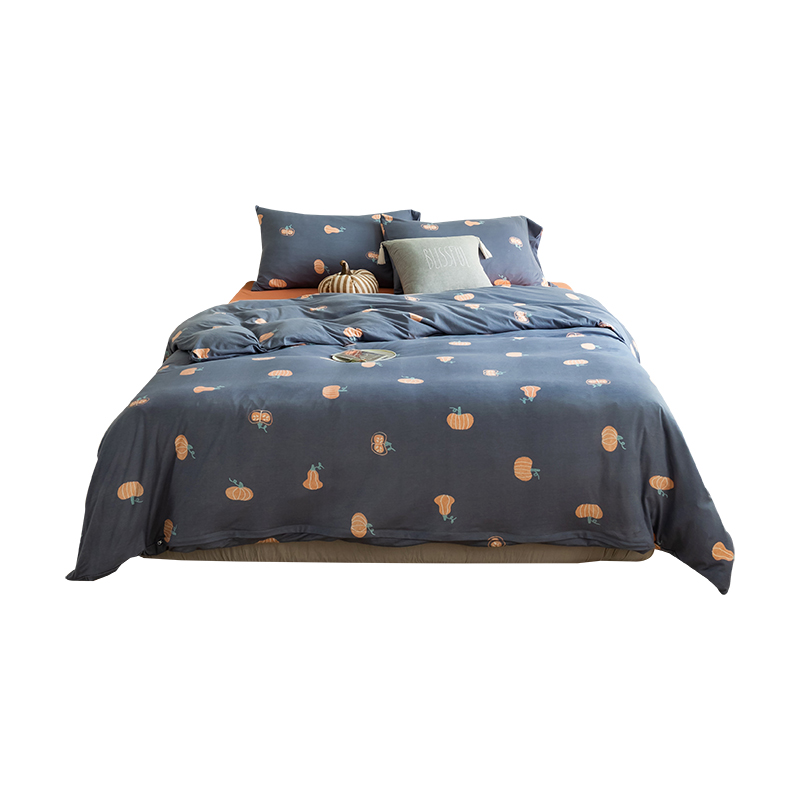 custom printed 100% cotton comforter bedsheets and pillow cases set 4 bed sheet