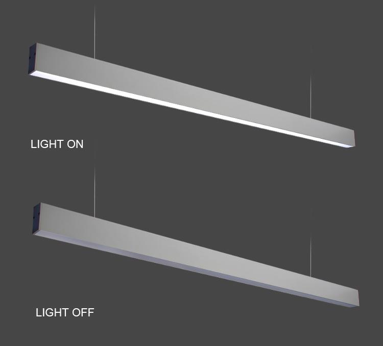36w Slanke Moderne Aluminium Indoor Opknoping Lineaire verlichting