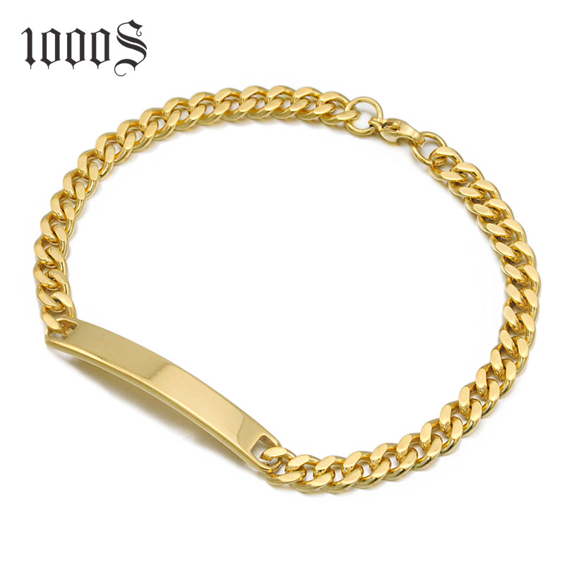 Free Sample Dropshipping Wholesale Silver Jewelry Mens Gold Silver Chain Silver Bracelet S925 8 inch