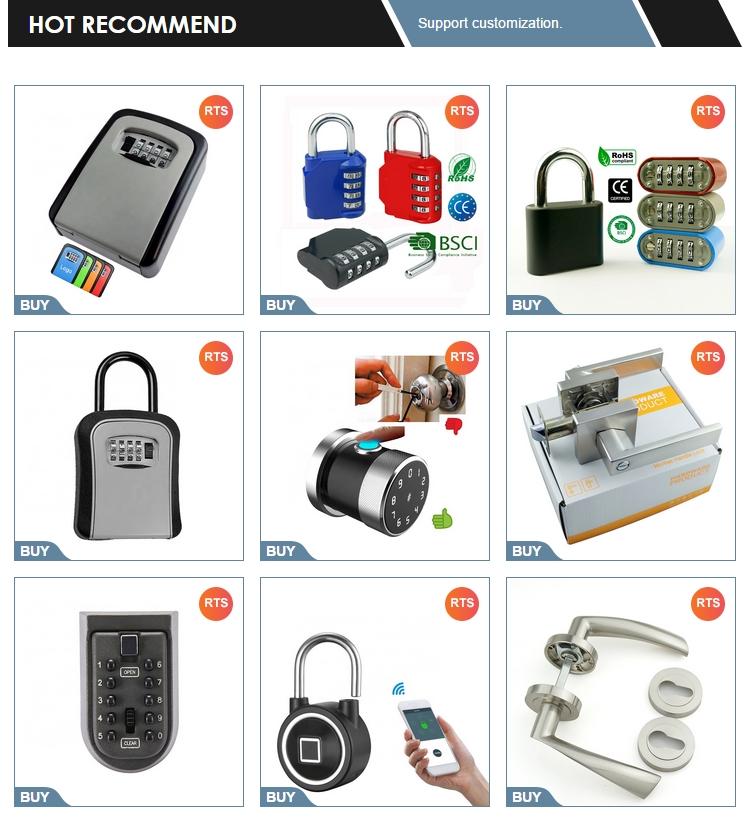 Heavy Duty Stainless Steel Round Combination Lock Resettable 4-Digit Weatherproof Keyless digit disk pad lock