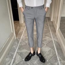 Мужской костюм с вышивкой, деловые брюки, модные повседневные облегающие Формальные Брюки для работы и свадьбы, 2020(Китай)