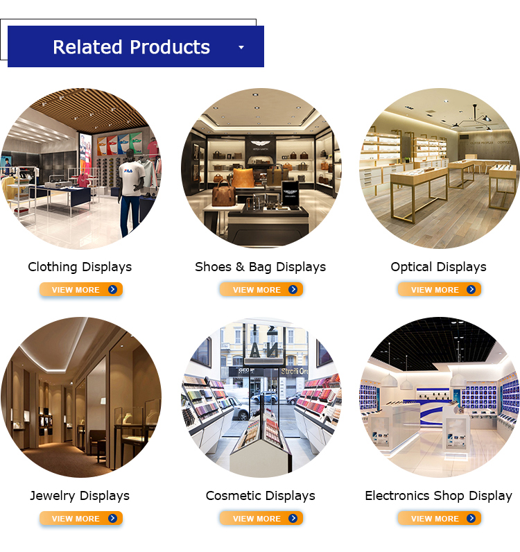 Pusat Perbelanjaan Mewah Desain Disesuaikan Kaca Kecil LED Display Perhiasan Kios