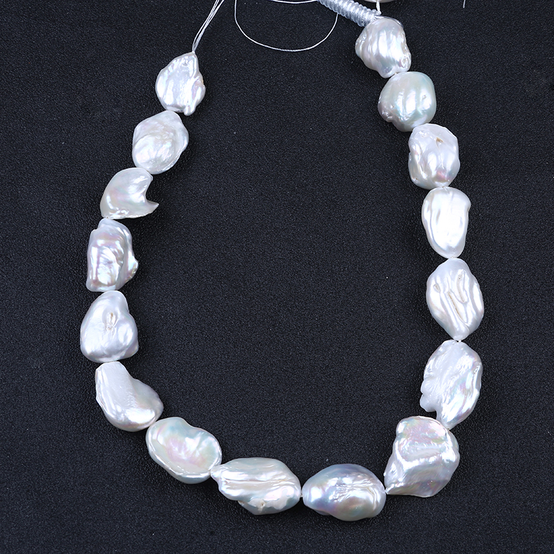 White 20*15mm Special-shaped beads freshwater pearl