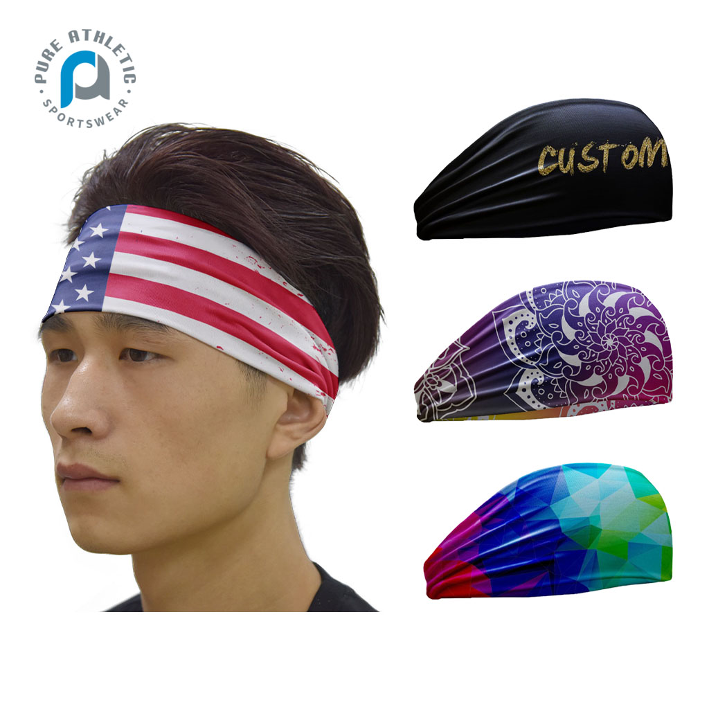 Pure Fashion Workout Running Athletic Solid <strong>Headband</strong> Compression GYM Yoga Custom Sports <strong>Headband</strong>