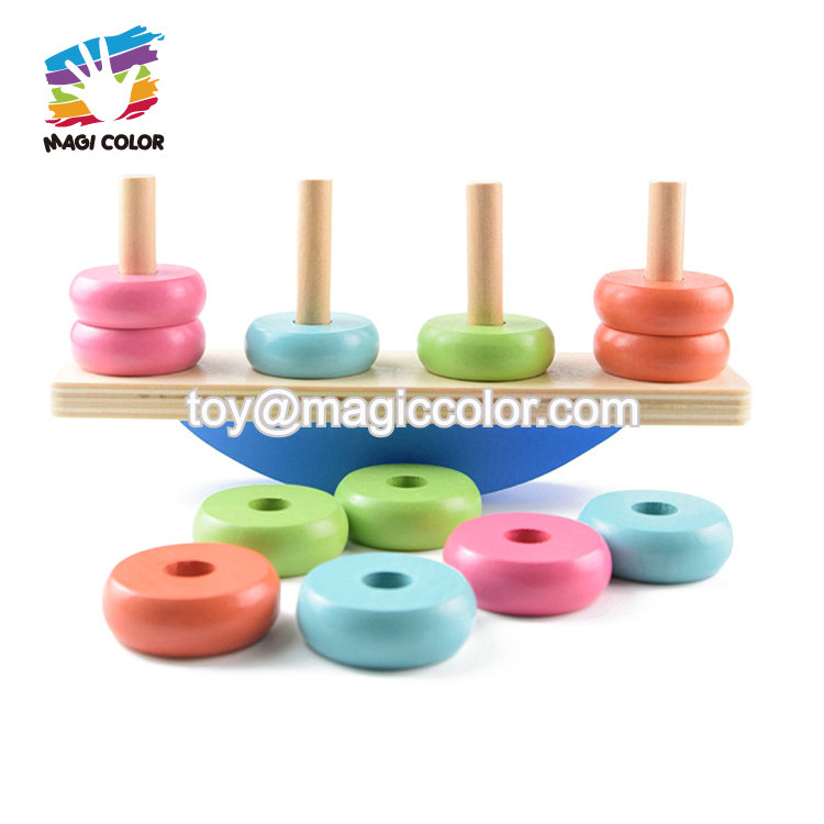 2020 most popular educational wooden balance toy for toddlers W11F089