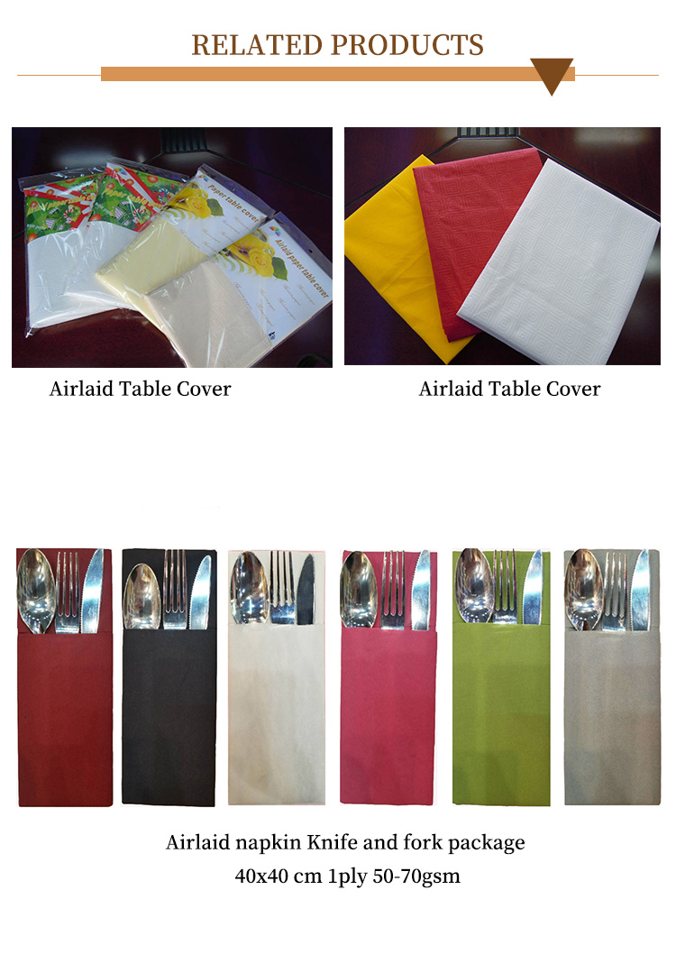 Disposable paper table cloth covers