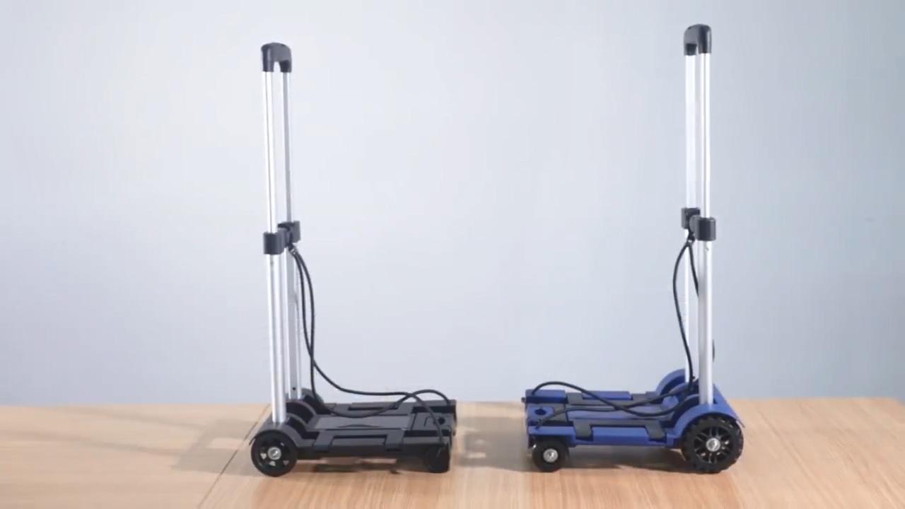 קניות עגלת מזוודות מתקפל אלומיניום לשאת משאית שני גלגלי יד לשאת עגלה