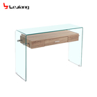 China manufacture free sample bent glass console table