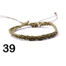 Богемный воск трос полосатые браслеты с узором кольцо с перекрестным плетением пляжный цветной плетеный браслет для дружбы кулон Handmad Сюрп...(Китай)