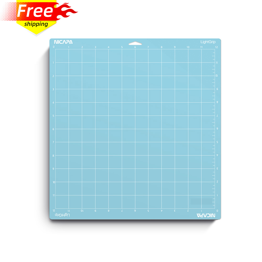 Nicapa Cutting Mat for Cricut Explore Air/Air 2/Maker (Lightgrip,12x12,1piece) Adhesive Sticky Blue Craft Accessories Mats