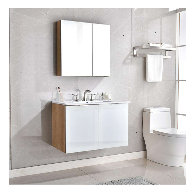 Water Resistantเดี่ยวอ่างล้างจานแบบโมเดิร์นโมเดิร์นPVCตู้ห้องน้ำ