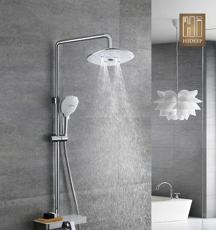 HIDEEP Bathroom shower 24x24cm ABS shower head hot cold water rain shower faucet