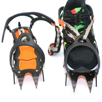 14 Teeth Ice Ice Gripper Non Slip Climbing Crampons Cleats Shoe Cover Ice Crampons Winter Snow Spikes Boot Shoes For Winter