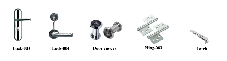 Foshan Hot Sale Hotel Room Security Strong Galvanized Stainless Steel Metal Door