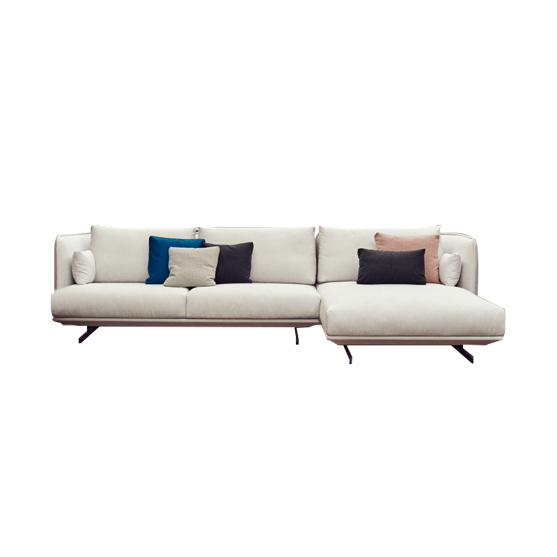 2019 fabric sofa Simple modern self-contained three-person living room sofa <strong>furniture</strong>