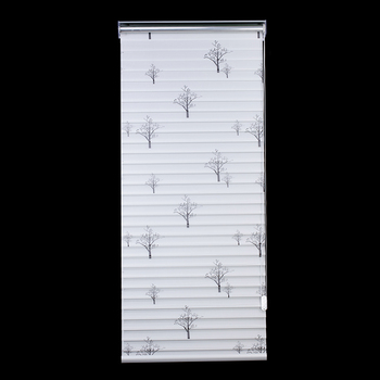 Top quality white zebra style rolling up shades shangri-la blinds