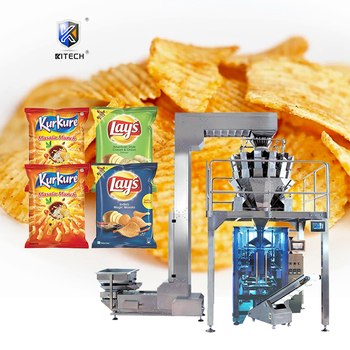 Low cost automatic potato chips/biscuit/granule/grain snack food plastic pouch bag nitrogen vertical packing machine